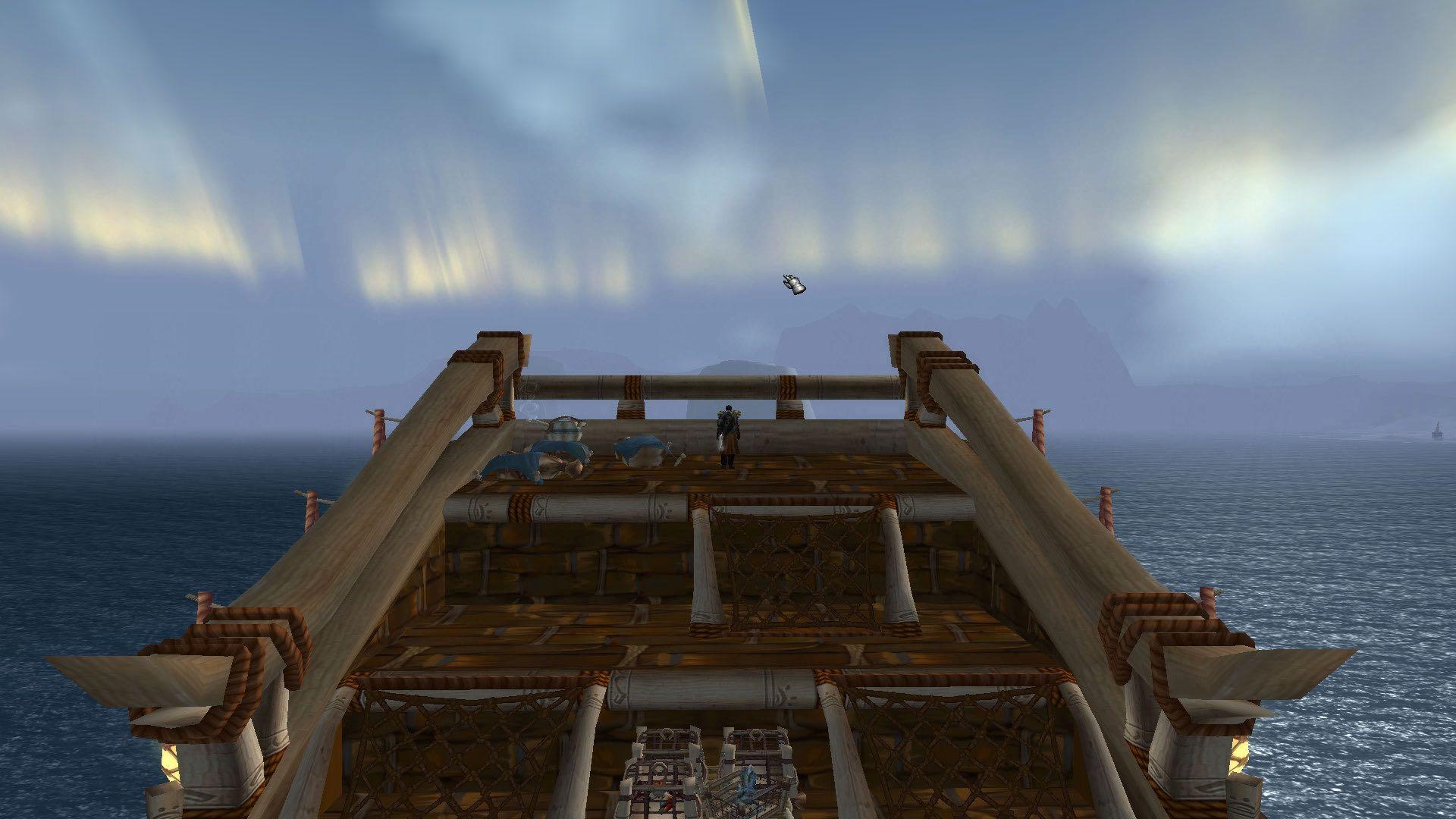 坐海象人的船穿过冰冻之海去龙骨荒野的莫亚基港口