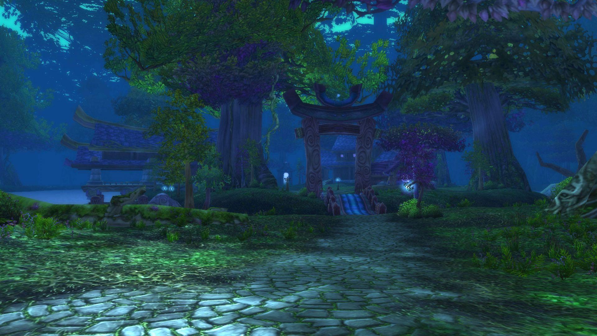 做术士魅魔任务时路过灰谷的夜歌森林