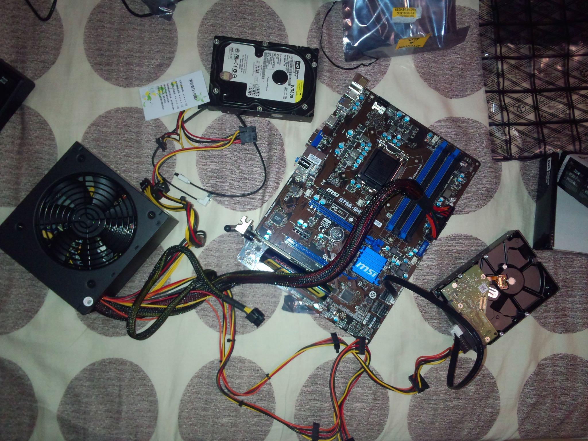 主板、硬盘、电源、网卡
