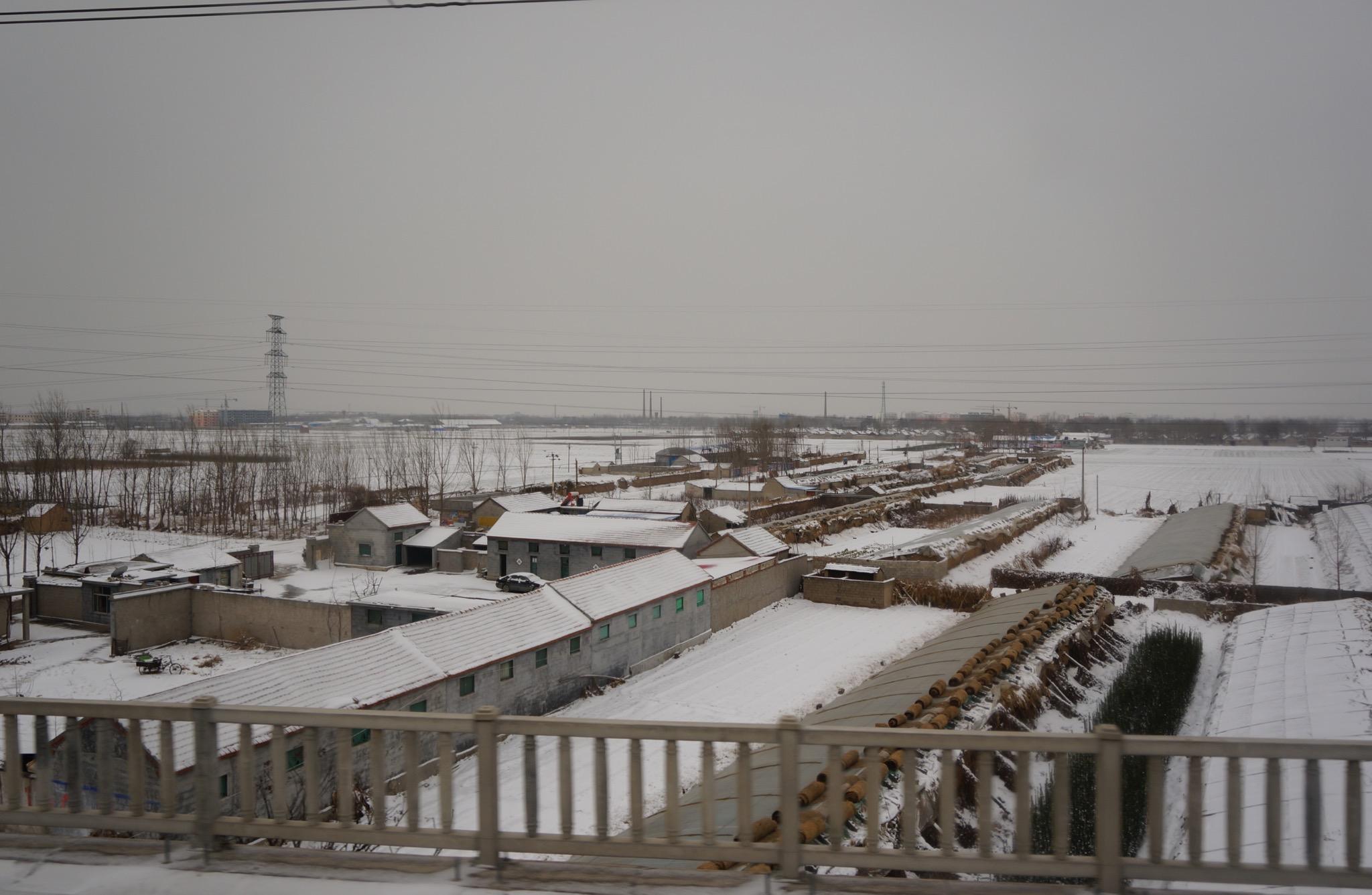 一路上下了大雪