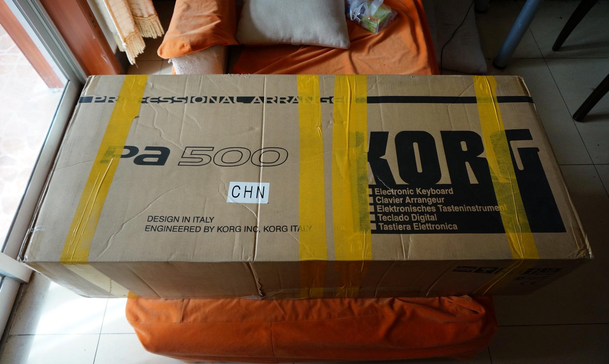 PA500的包装箱