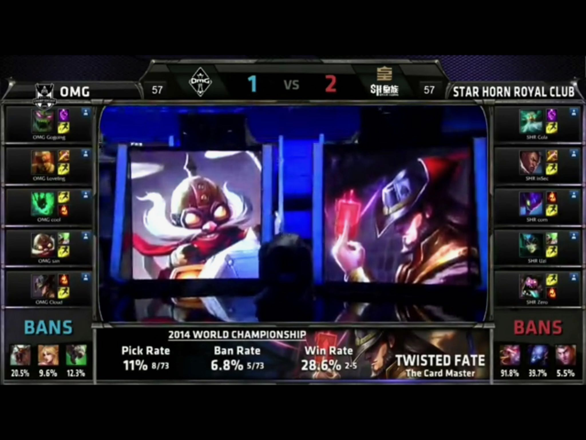 S4半决赛:OMG vs 皇族第四场 BP 阶段