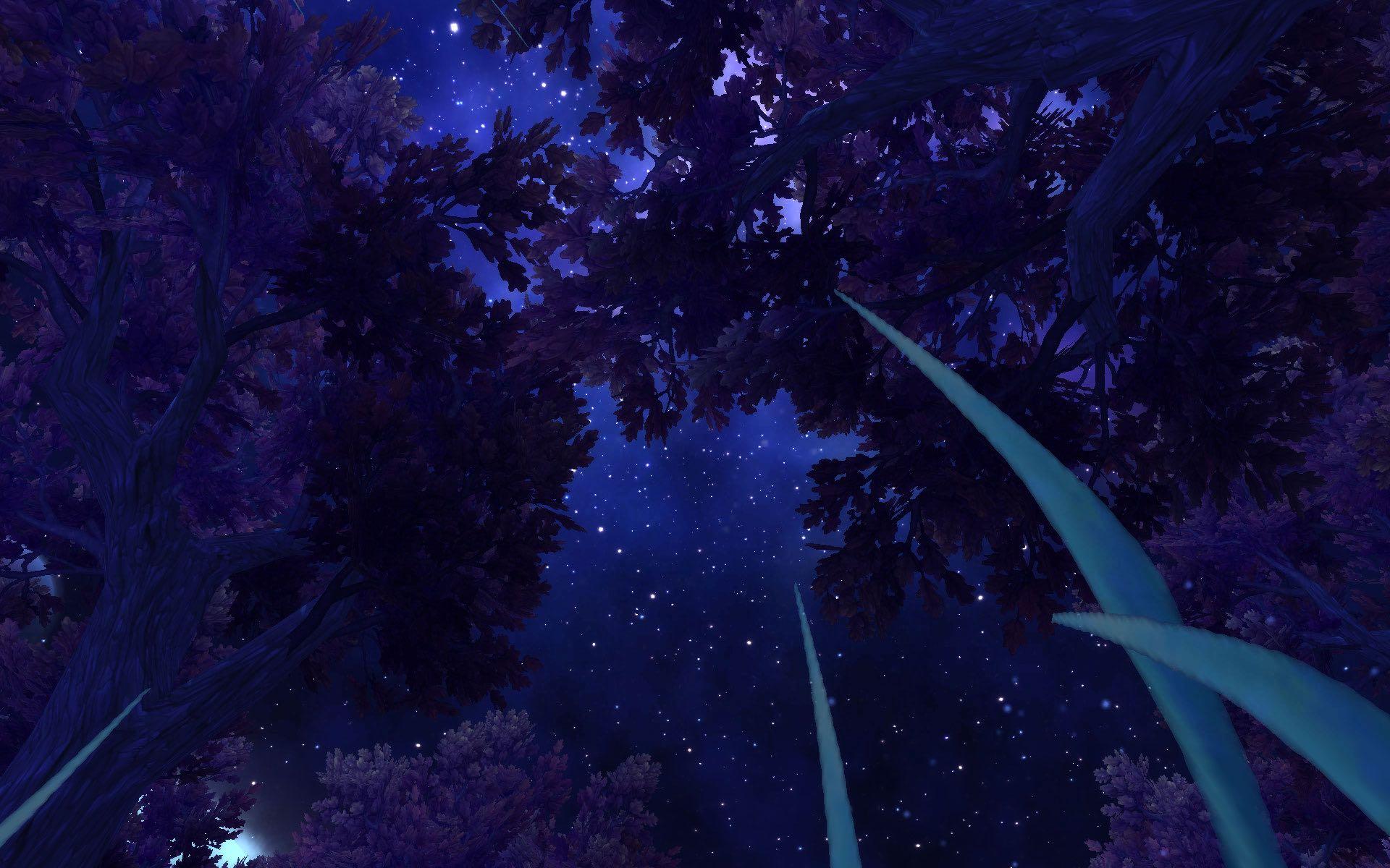 回影月谷做左侧地图的任务时看到满天繁星