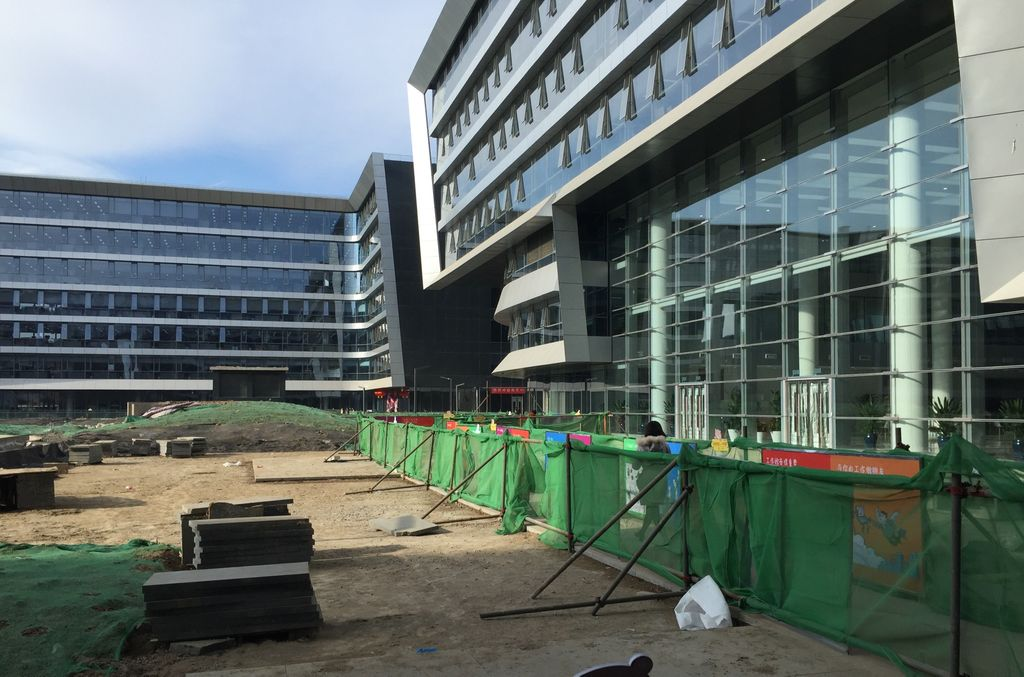 科技园二期还有部分设施未完工