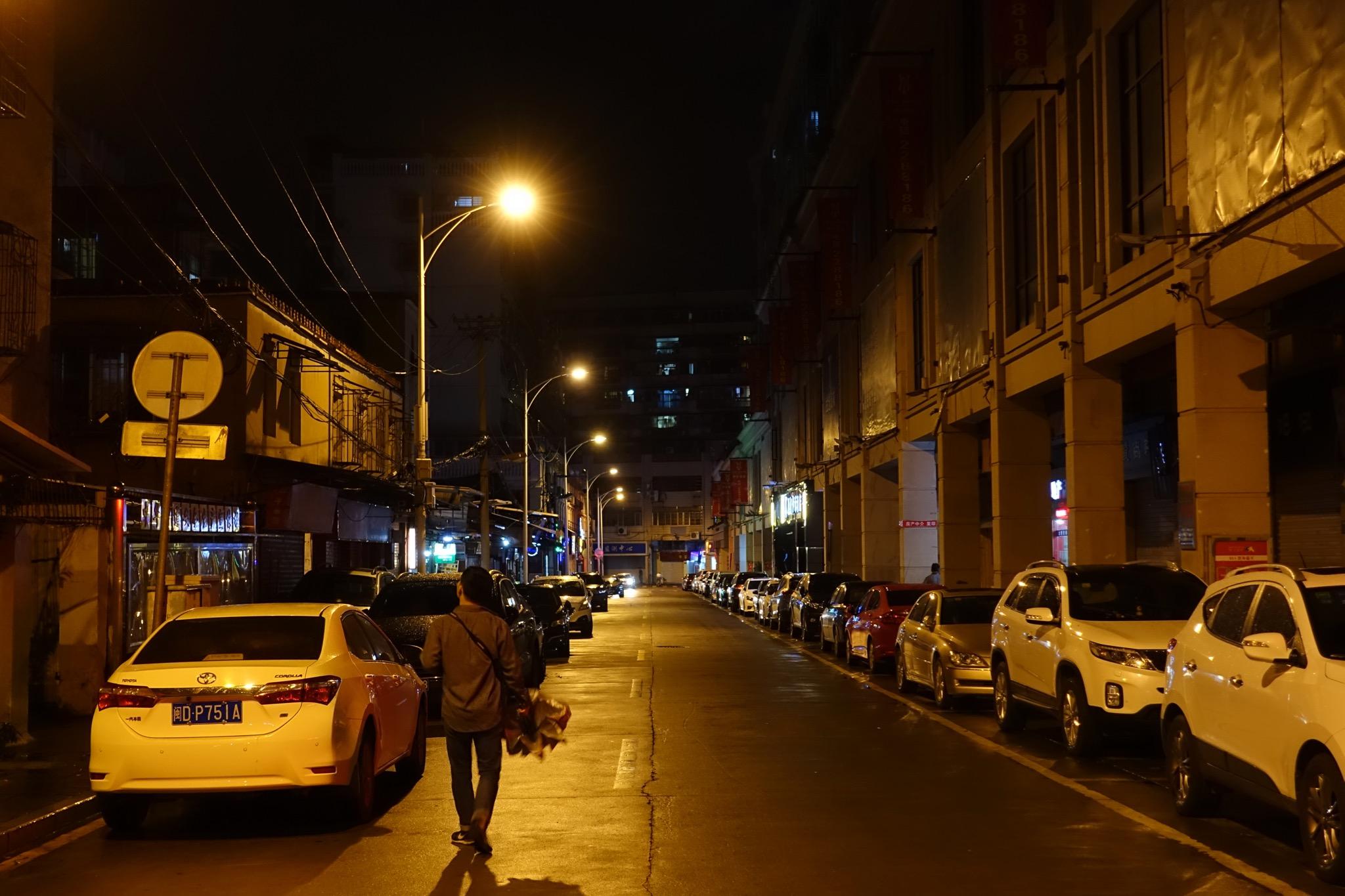 深夜的厦门街道