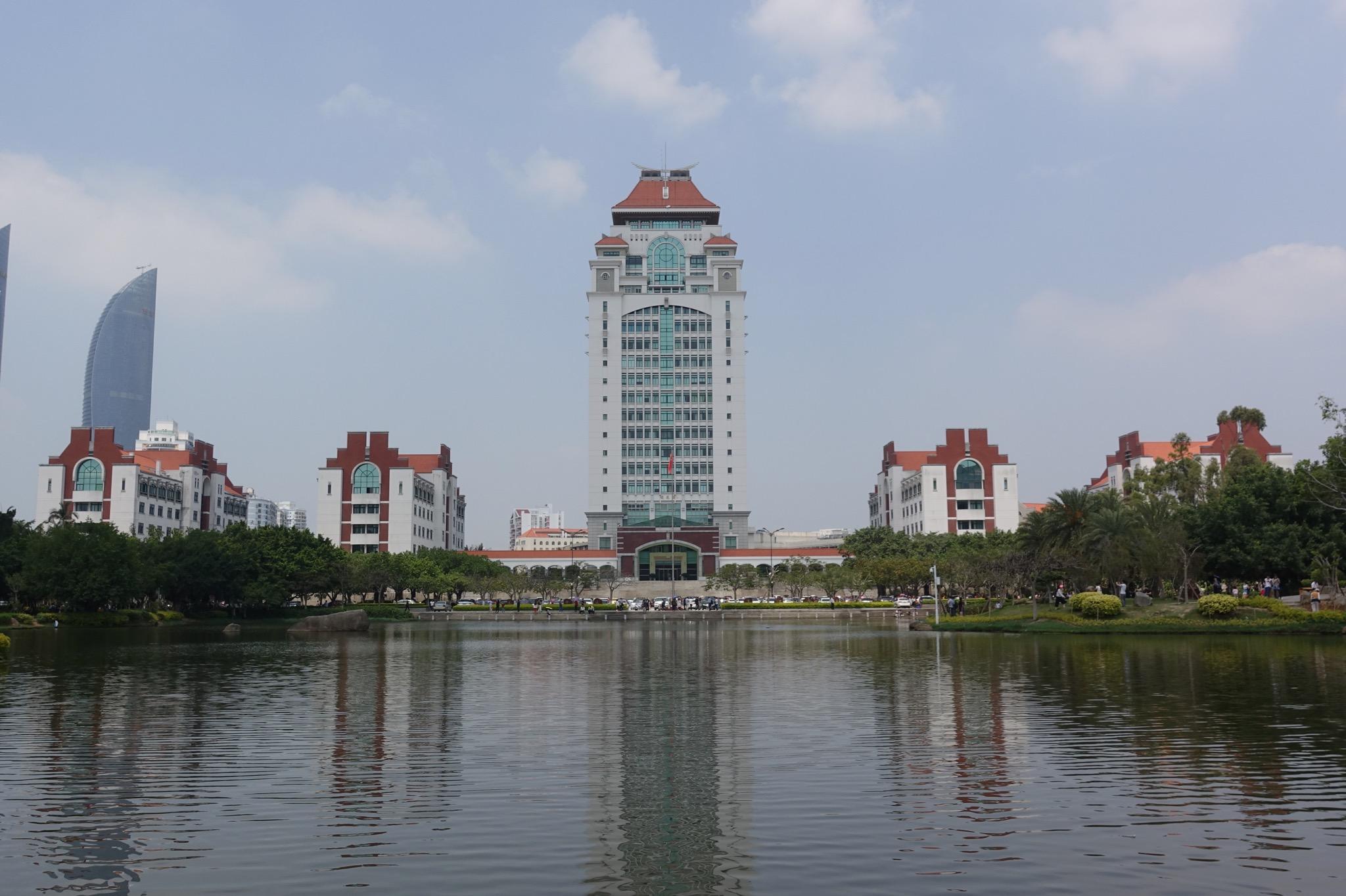 厦大大湖和建筑