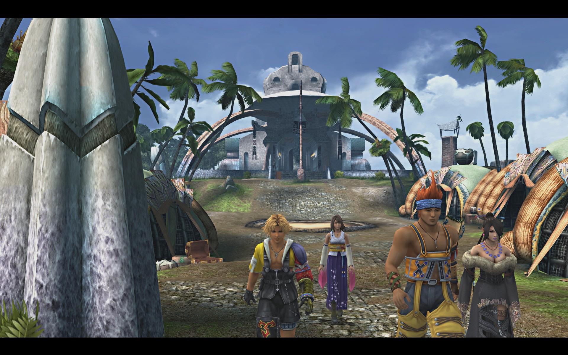 Yuna一行离开寺院