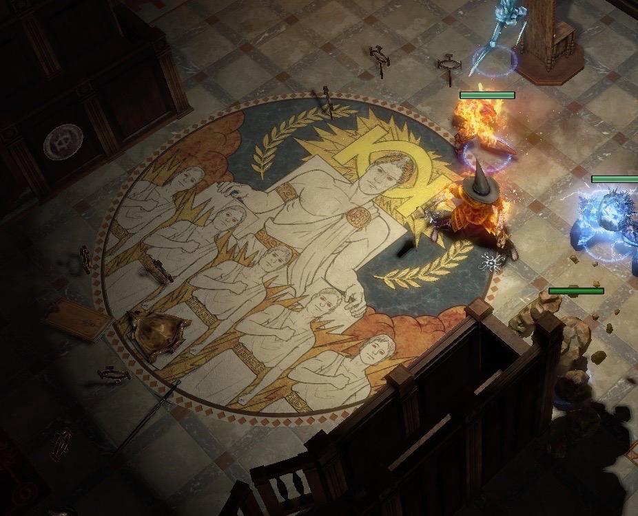 圣堂高庭的哲学地板画