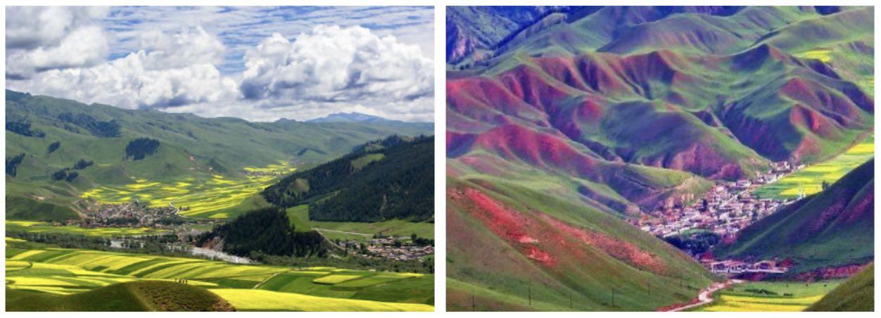 青海祁连的多彩群山