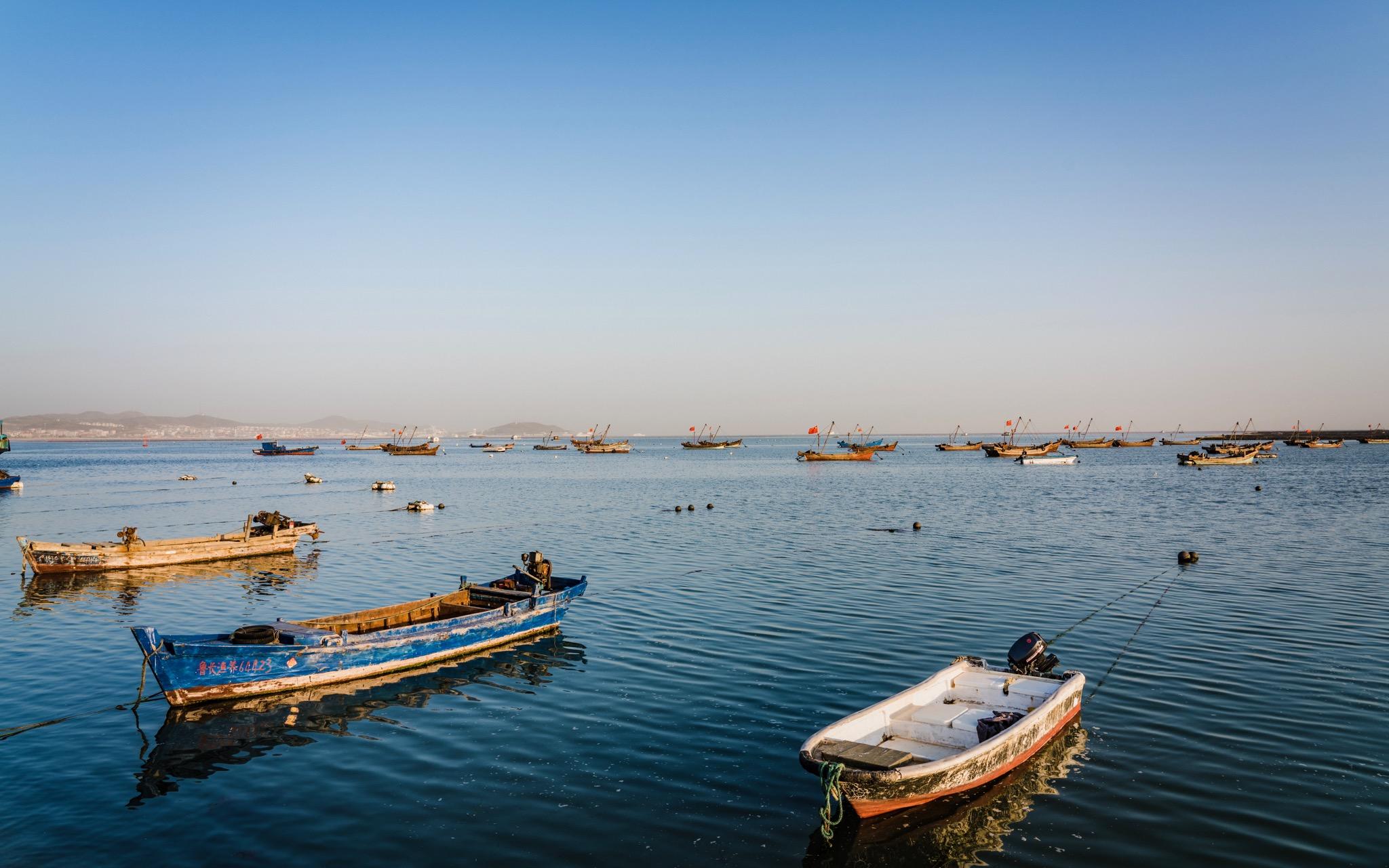 庙岛港口的渔船