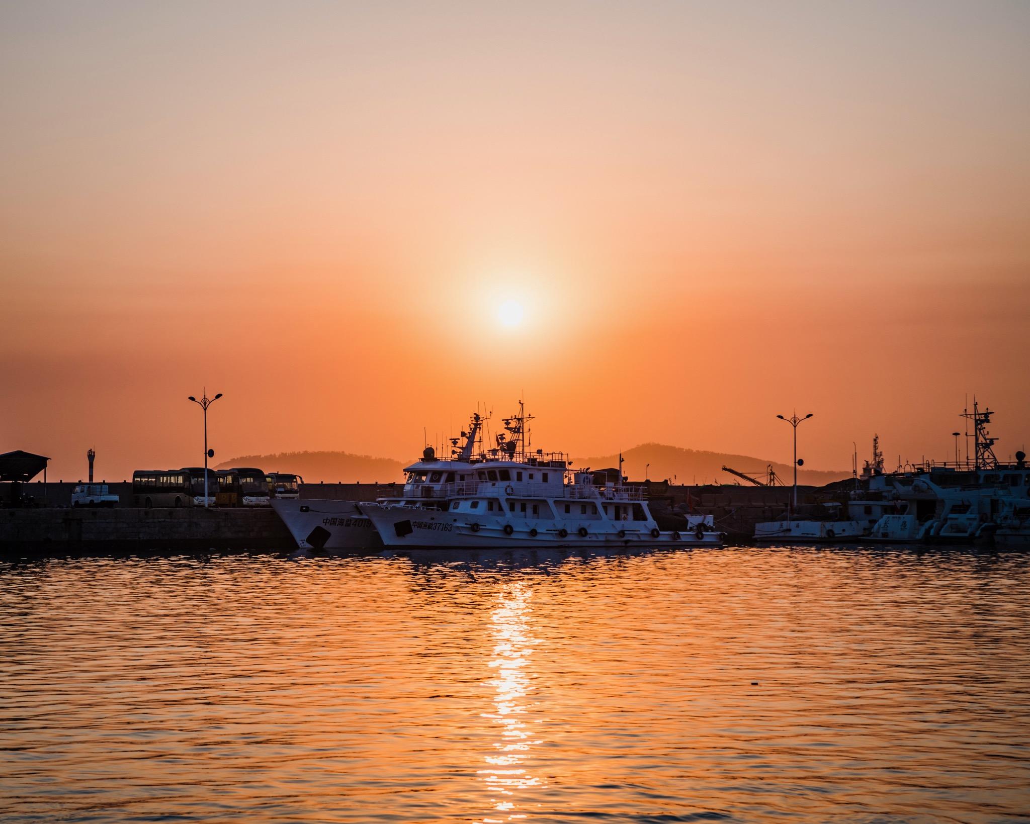 长岛港的夕阳